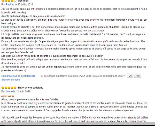 Avis Utilisateur Brosse chauffante lissante Demeliss Pro Saint Algue
