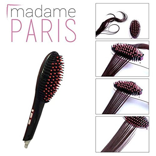 présentation de la brosse lissante chauffante madame paris